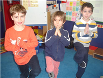 Ms. K's students held a yoga pose for 100 seconds!