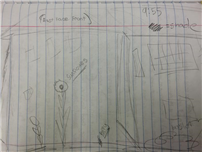A student's plans for new landscaping